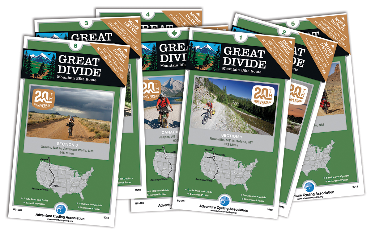Great Divide Mountain Bike Route Map Set