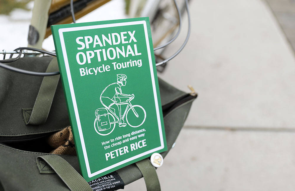 Book review of Spandex Optional Bicycle Touring: How to Ride Long Distance, the Cheap and Easy Way by Peter Rice