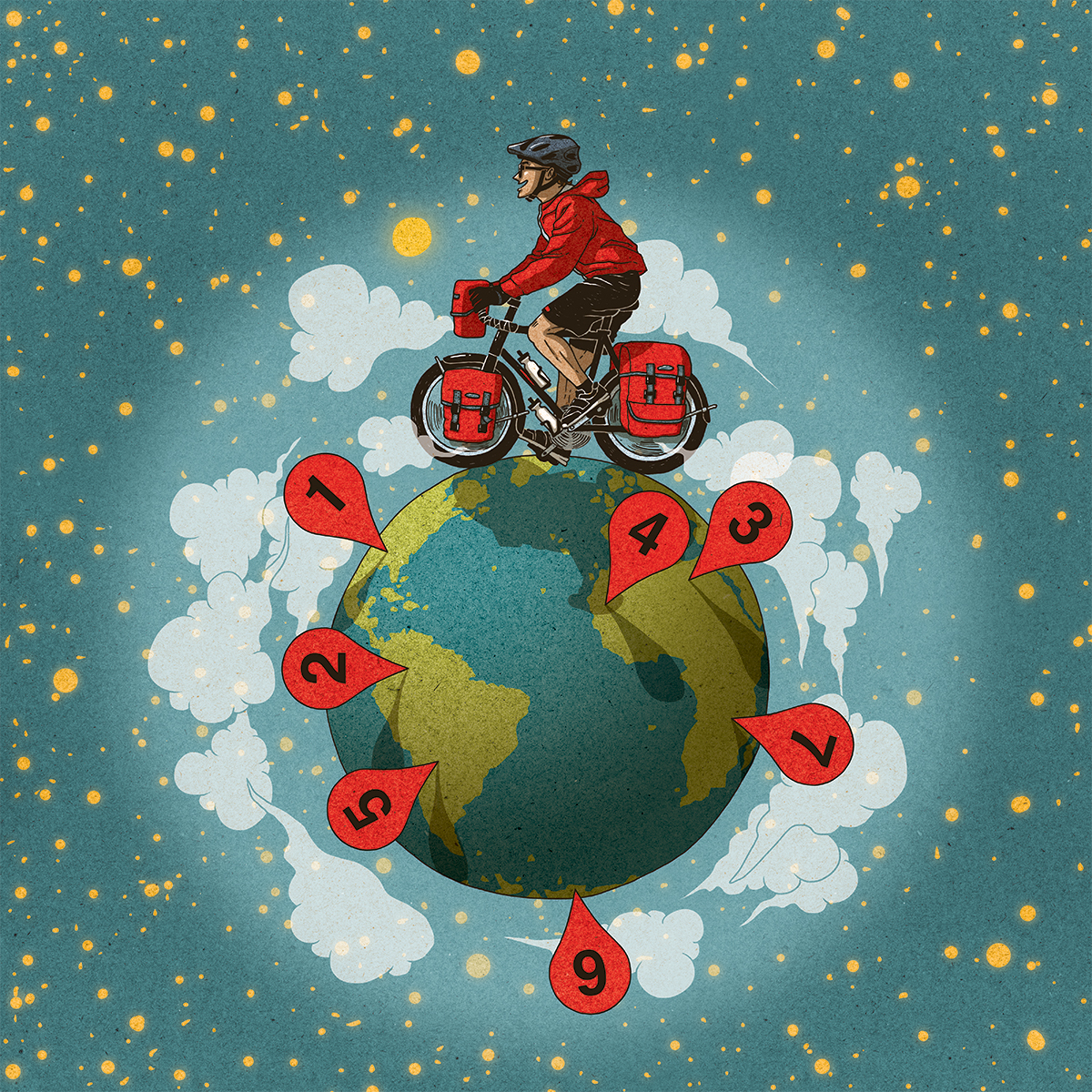 Bike your seven wanders of the world