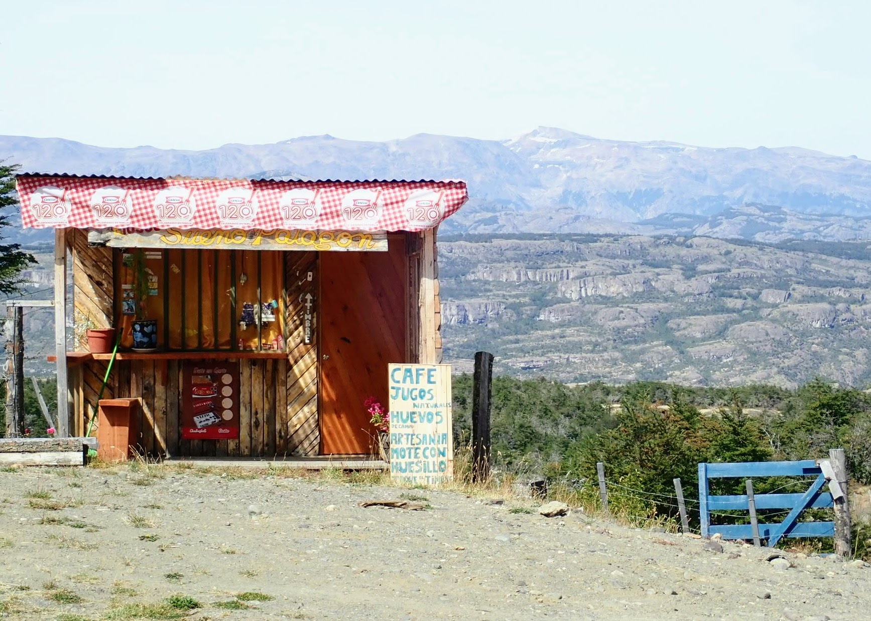 Roadside cafe in Chile