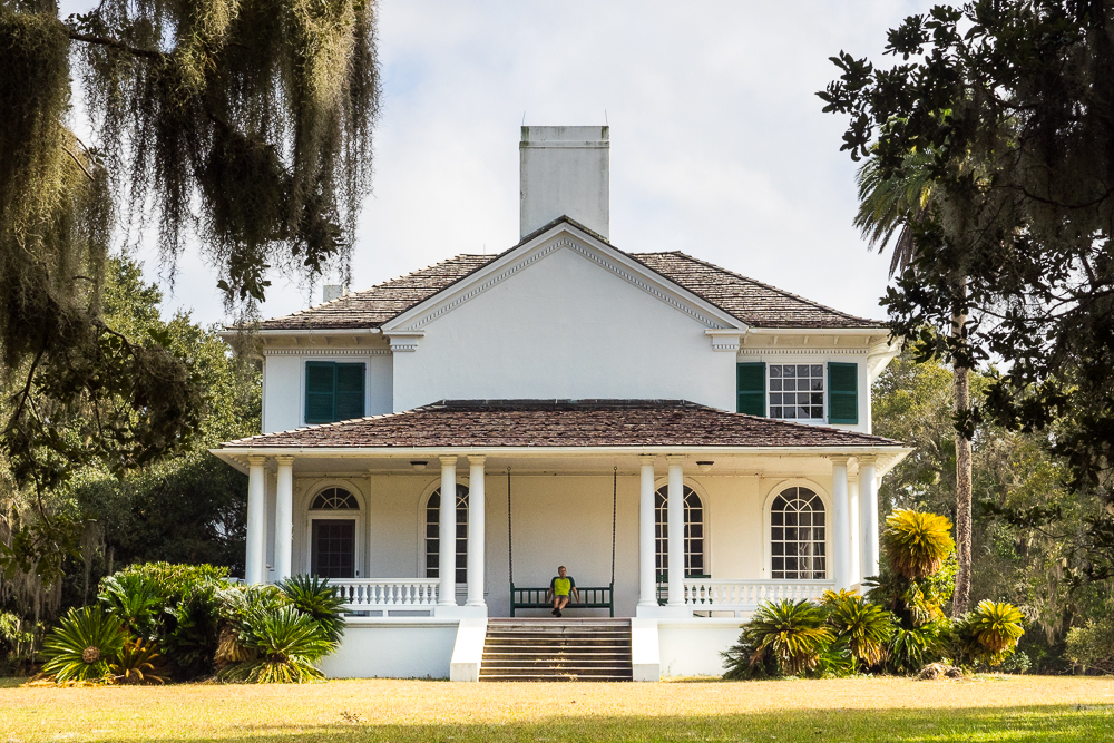 Historic buildings on the island contrast with Cumberland Island's wilder stretches.