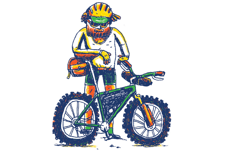 Modern mountain bike illustration by Daniel Mrgan
