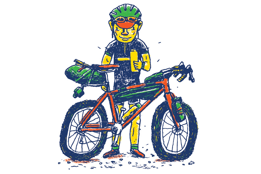 Bikepacking bike illustration by Daniel Mrgan