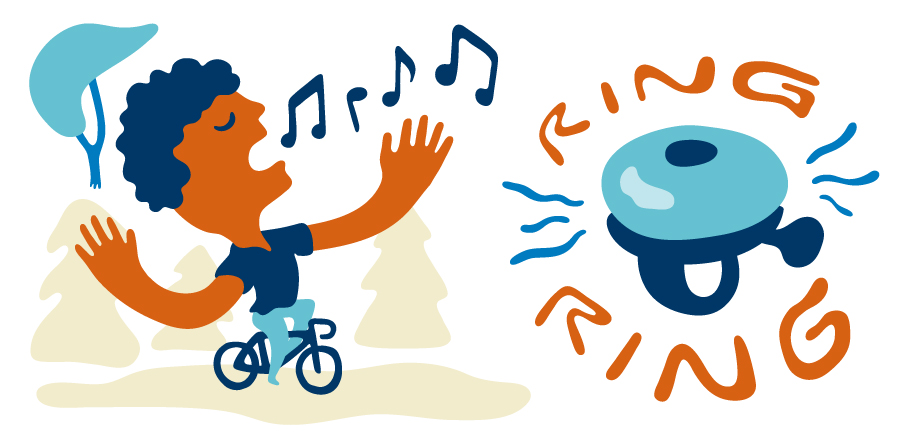 Singing and ringing your bike bell are simple ways to keep bears at bay in bear country.