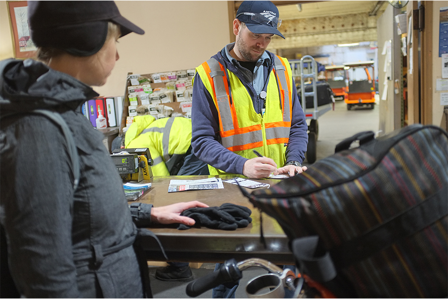 Checking your bike with Amtrak bike services