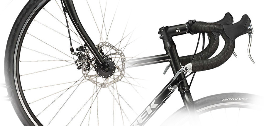 The brakes that come standard on the Trek 520.