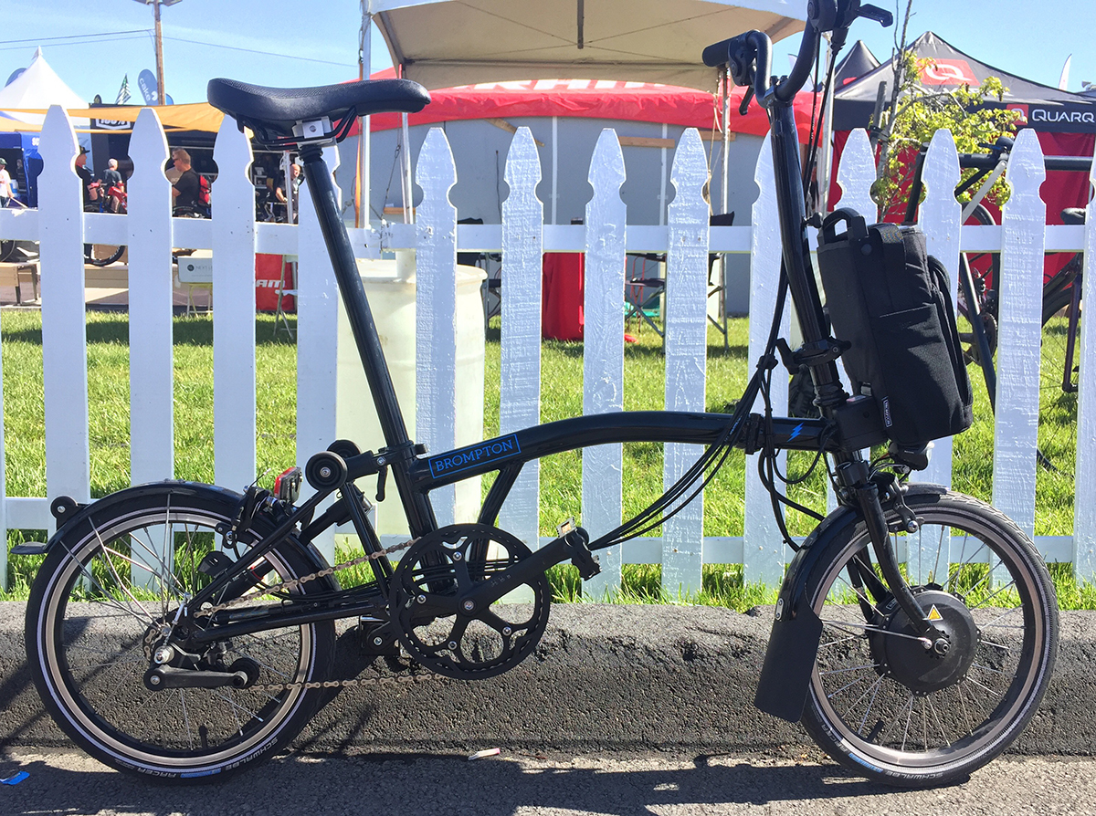 Brompton eBike is a folding electric touring bike