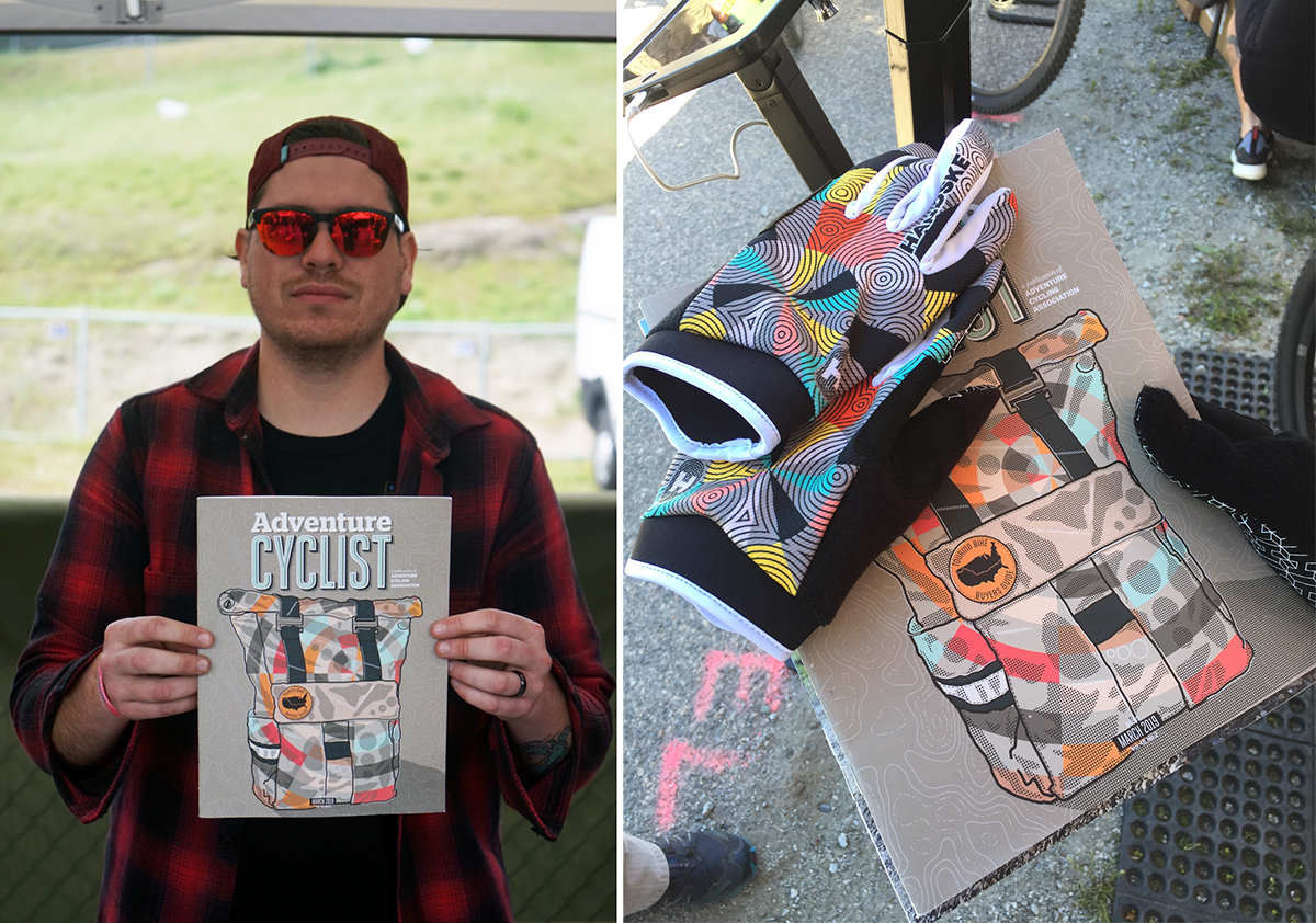 We met illustrator Mr. Crumbs at Sea Otter Classic