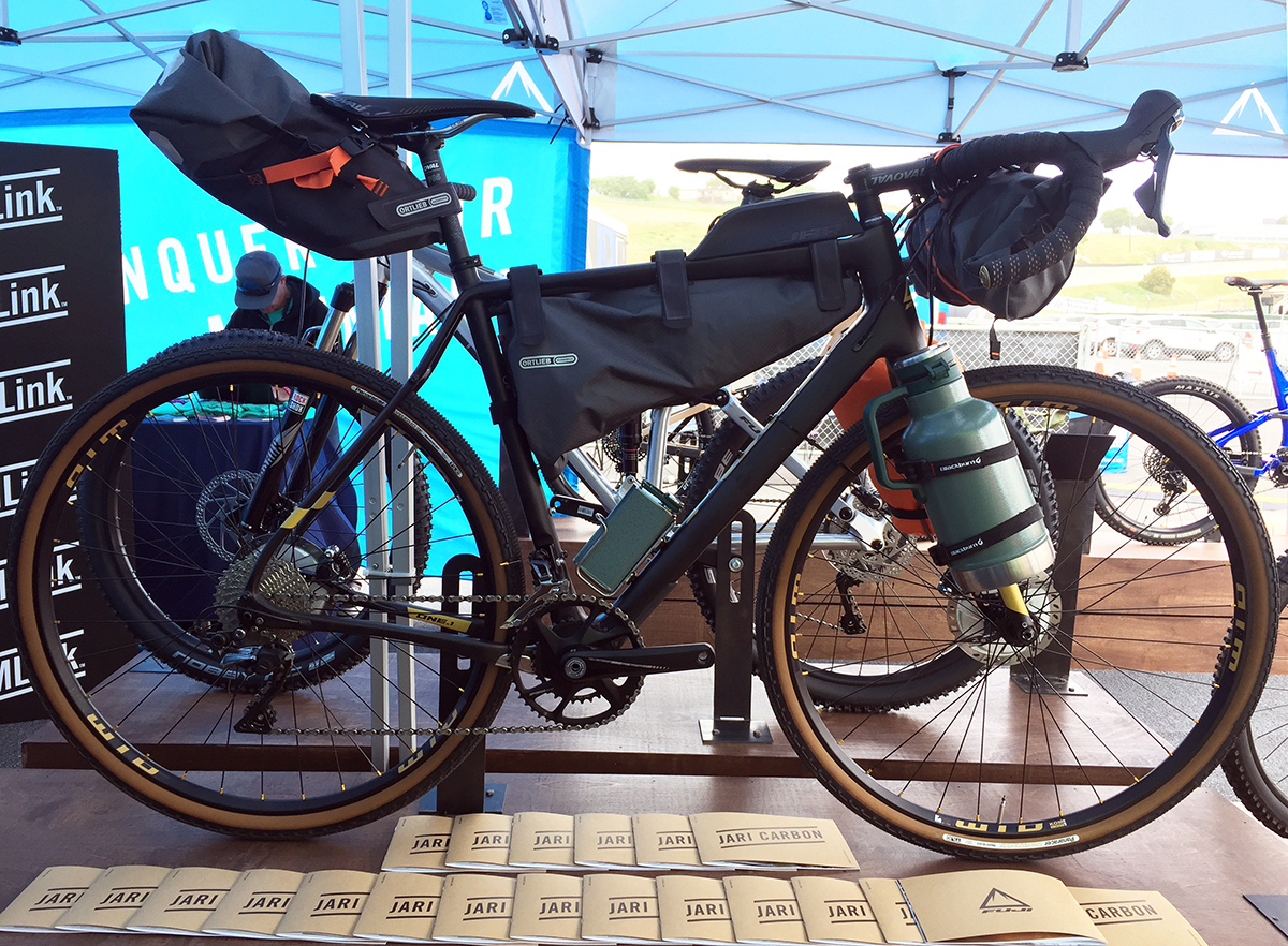 Fuji Jari Carbon is a touring bike for gravel or bikepacking