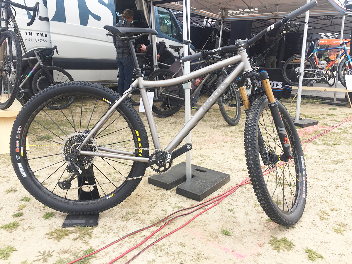 Moots Mountaineer YBB as a mountain bike offers better standover