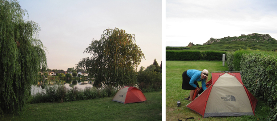 Camping while bike touring in Europe