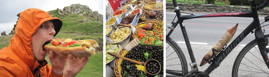 Food options while bike touring in Europe