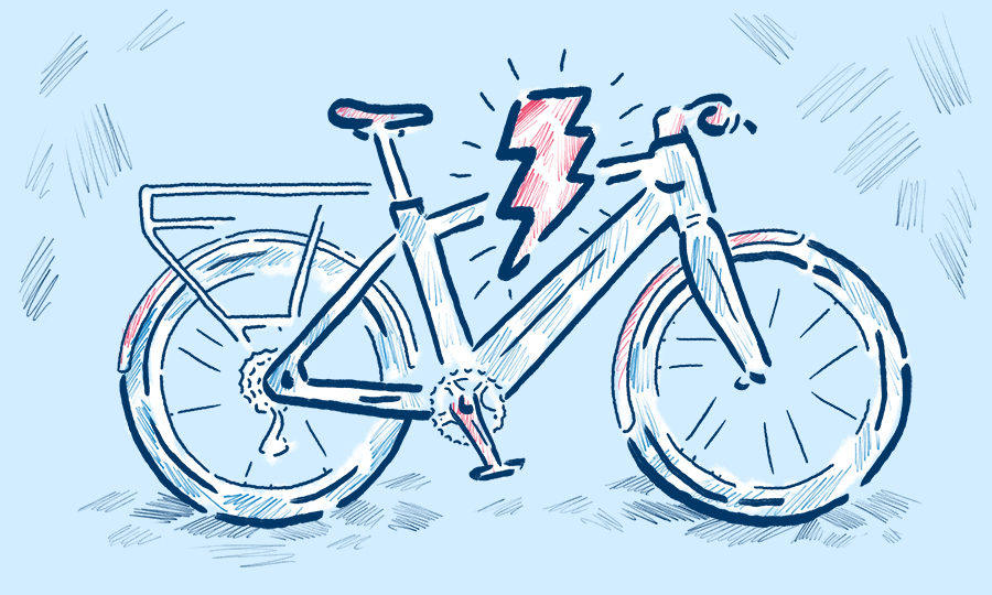 eBike illustration by Levi Boughn