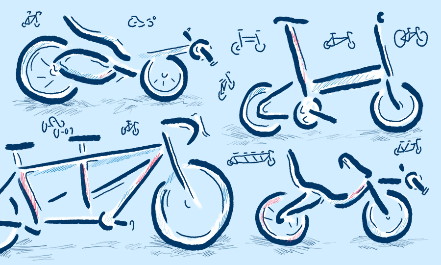 Bicycles illustration by Levi Boughn