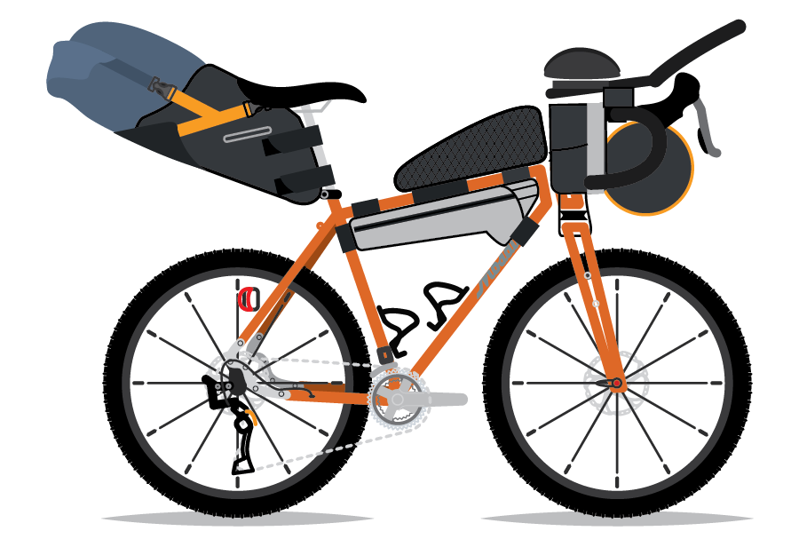 An illustration of Nick Legan's Mosaic Custom. By Bicycle Crumbs.
