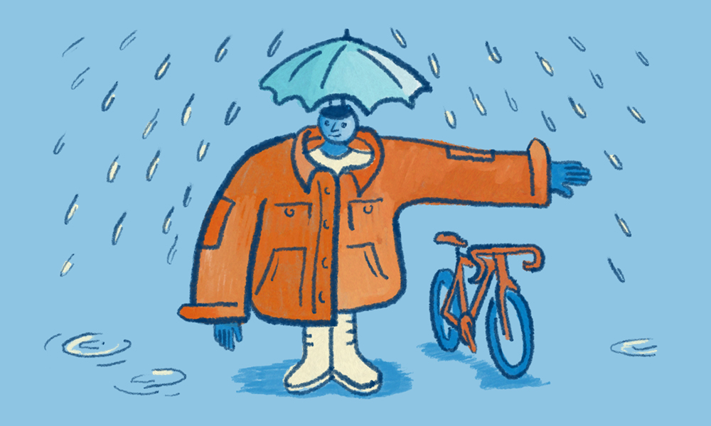 Wearing waterproof layers can help to keep you warm and dry during unsavory weather.