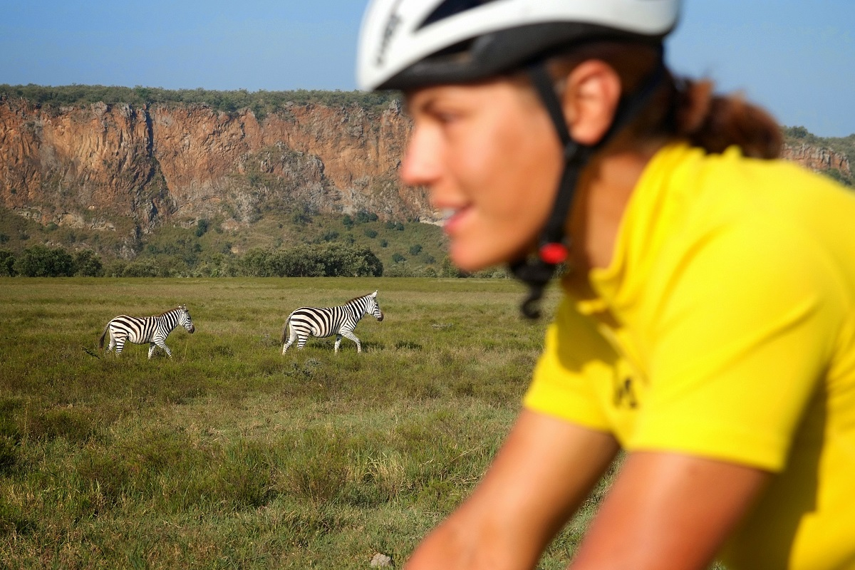 Florian Pruller zebras on a bike tour