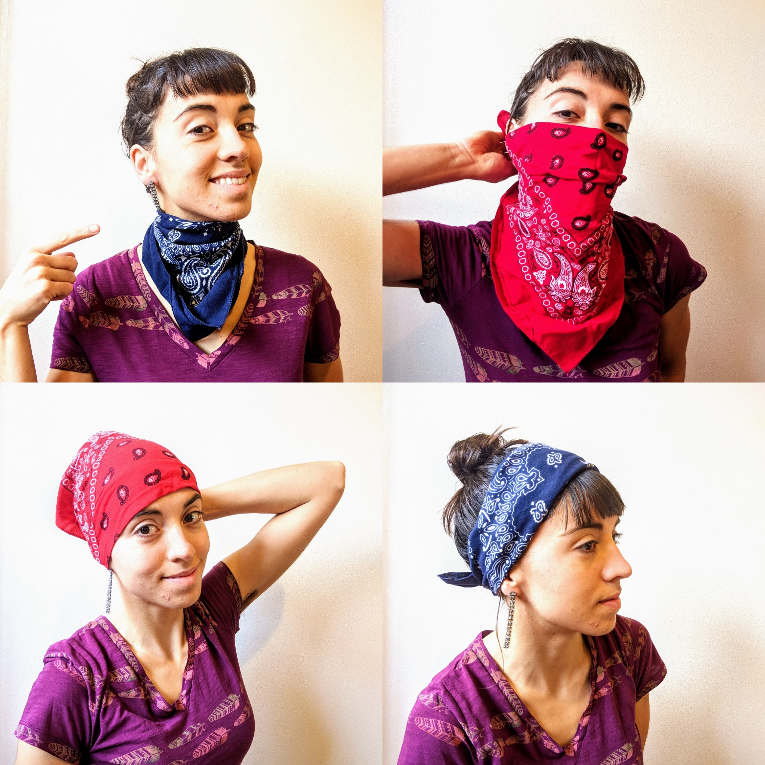 Ways to wear a bandana for bicycle touring