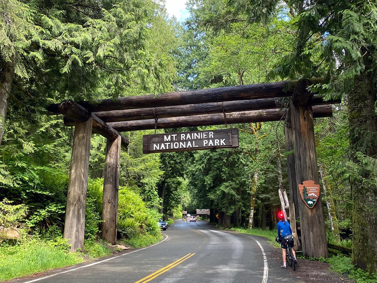 Cycling into Mount Rainier National Park