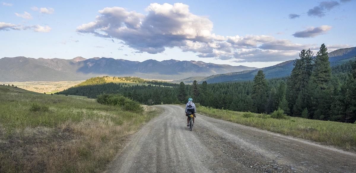 Devin rides through Montana's stunning mountains.
