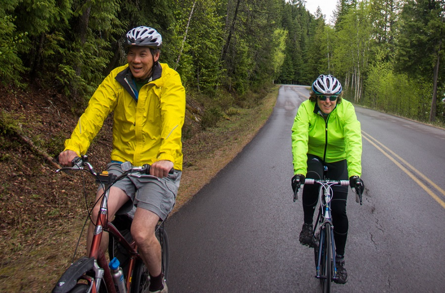 Bike Your Park Day Bike Travel Weekend Glacier NP Saara Snow Adventure Cycling
