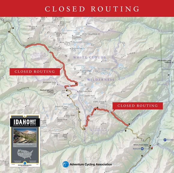 Map Graphic of IHSMBR Closure