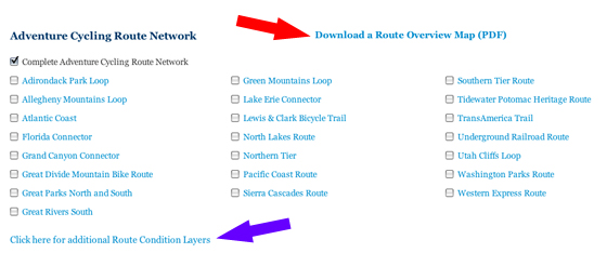 locate pdf and route conditions