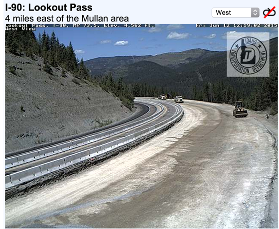 Photo from Idaho Department of Transportation webcam.