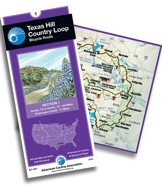 Texas Hill Country Loop map