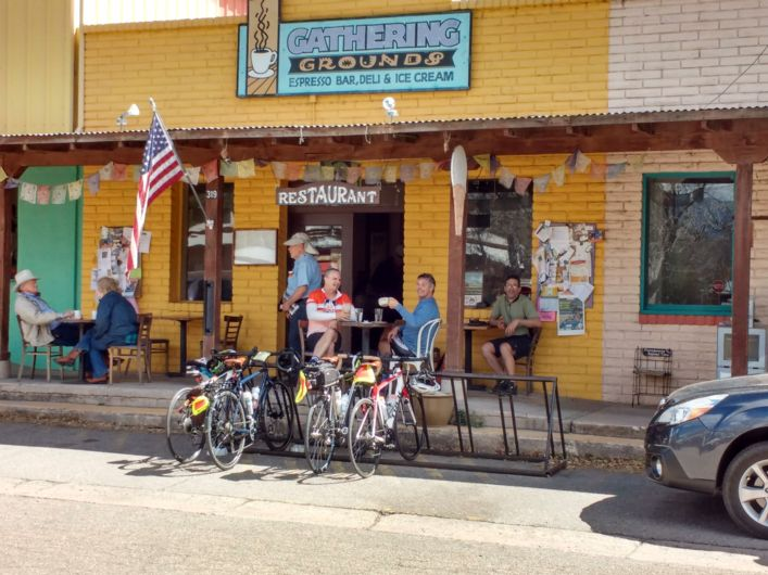 Sierra Vista, Arizona, Gathering Grounds Coffee, Arizona bike tour with Adventure Cycling