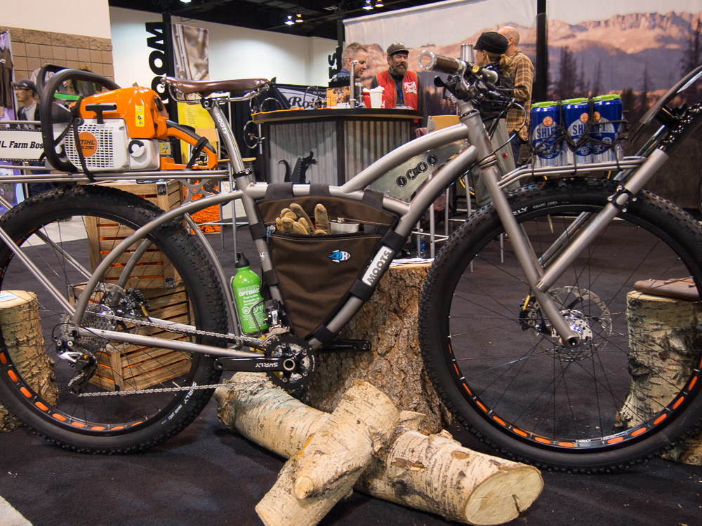 Moots bike designed as a rugged trail-building machine