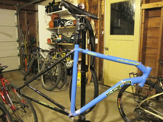 Upcycled Bike Frame Adventure Cycling Association
