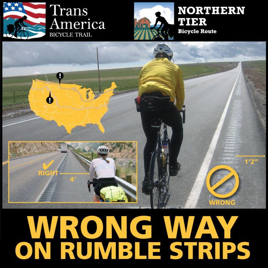 Montana Rumble Strip Update   Adventure Cycling Association