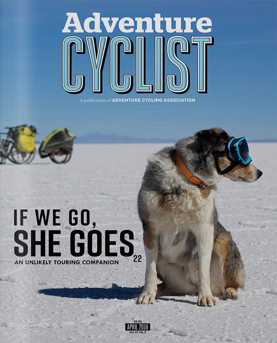 Adventure Cyclist magazine April cover