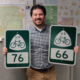 Kansas DOT Unveils Signs for U.S. Bicycle Routes 66 and 76